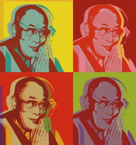 Modern pic of Dalai Lama Warhol style