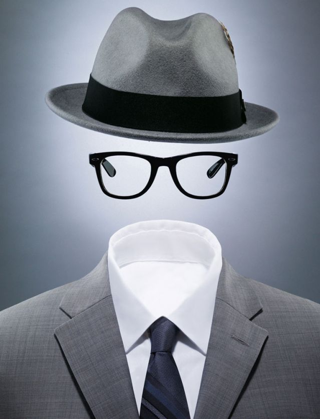 Hat, glasses, suit - invisible man