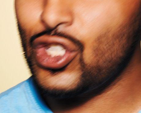 Hispanic man's mouth