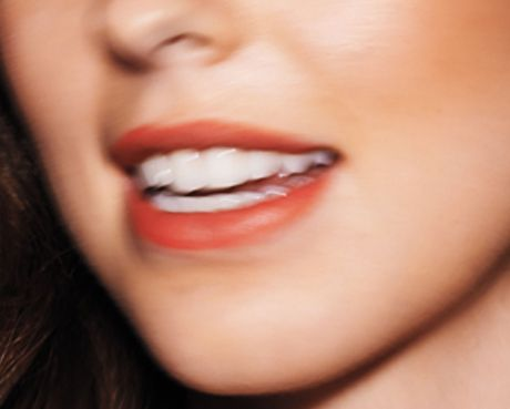 Caucasian woman's mouth