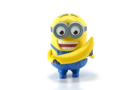 Despicable Me Minion holding banana