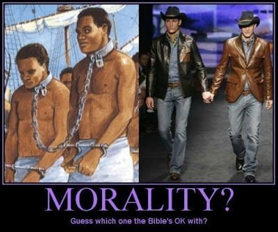 Biblically based morality can be inhumane