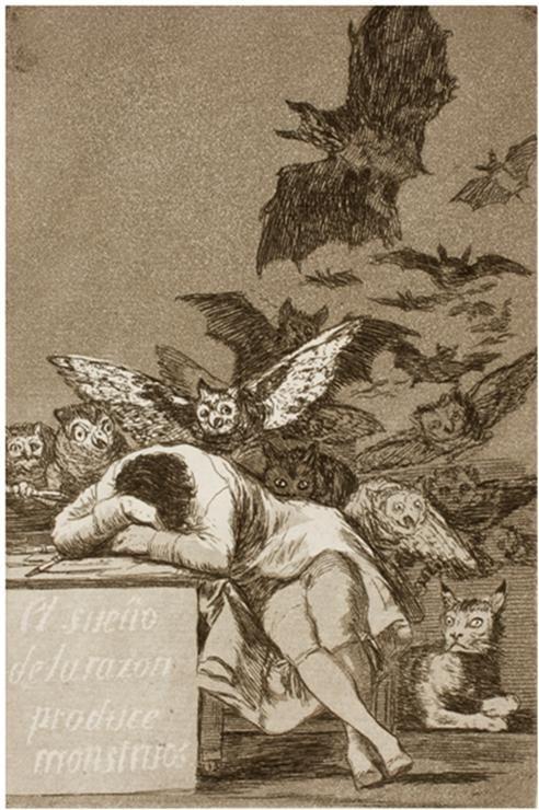 Francisco José de Goya y Lucientes, El sueño de la razon produce monstruos