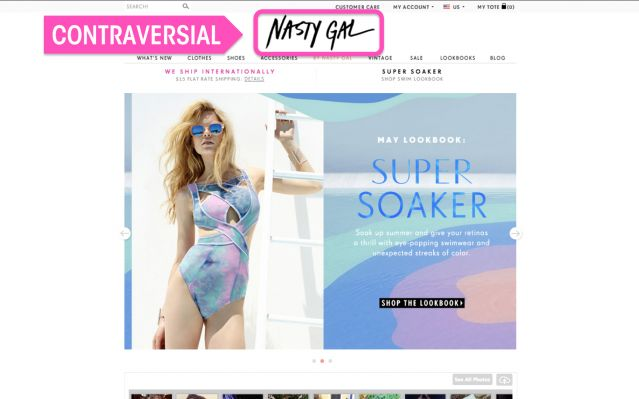 Nasty Gal - website screenshot 3