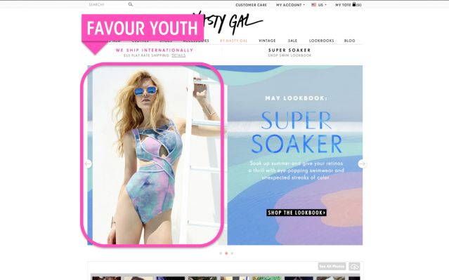 Nasty Gal - website screenshot 4