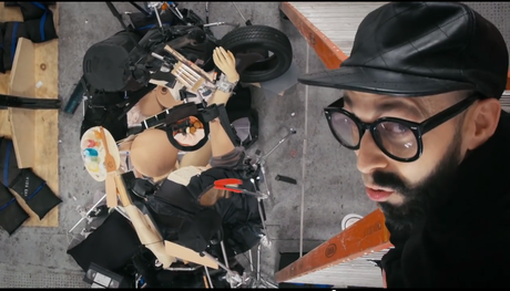 Screen capture of OK Go's 'The Writing's on the Wall'