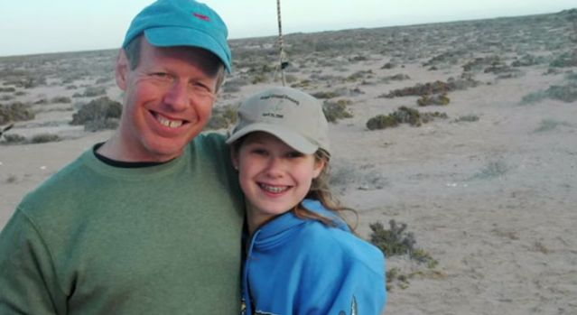 Horwitz with his daughter on their life-changing trip