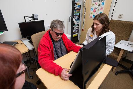 Retinal implant patient Roger Pontz