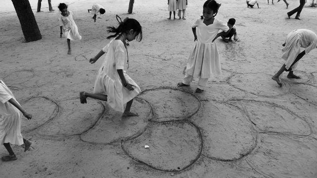 School girls in sabarmati ashram