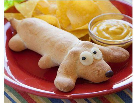 Dog canine pet human animal bond food shape Hot wiener sausage  pig  blanket
