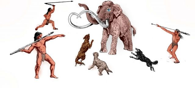 dog canine pet human animal bond mammoth hunt stone age domestication