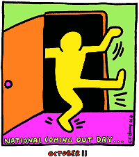 Keith Haring - Coming Out Day logo