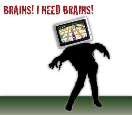 GPS zombie needs brains