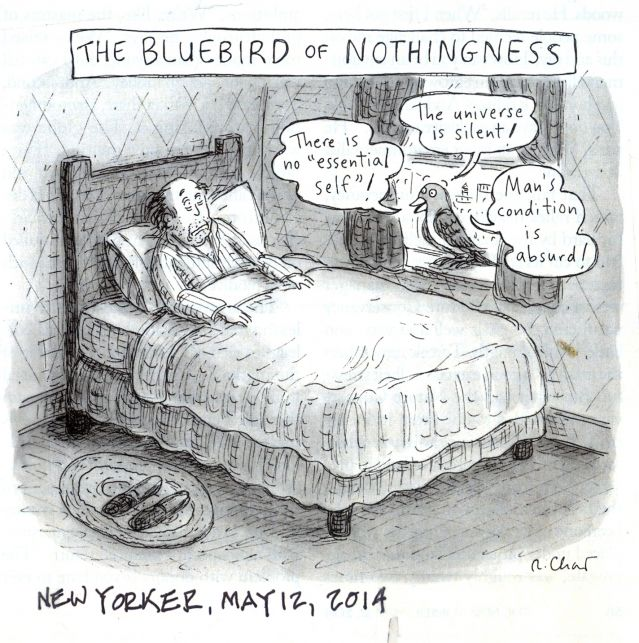 The bluebird of Nothingness