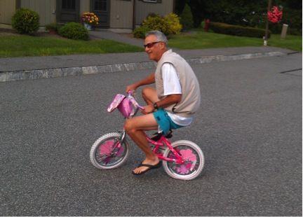 Saba Rides a Bike