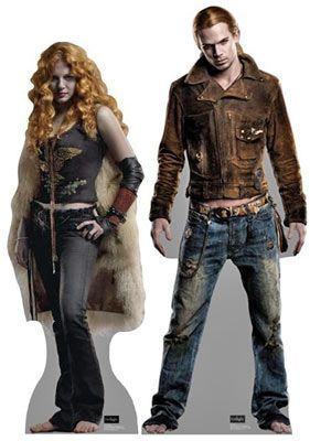 cardboard cutouts of villains from the Twilight movies