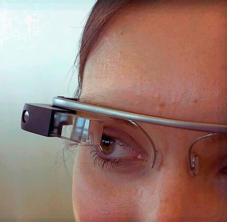 Up-close image of Google Glass