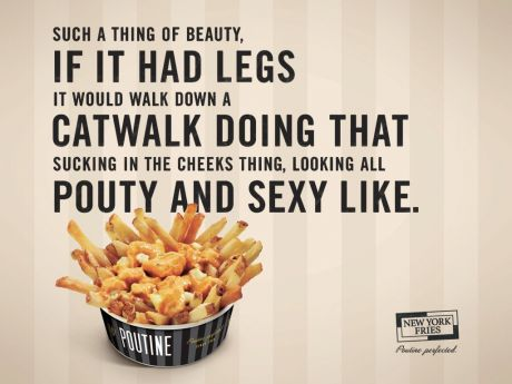 New York Fries print ad