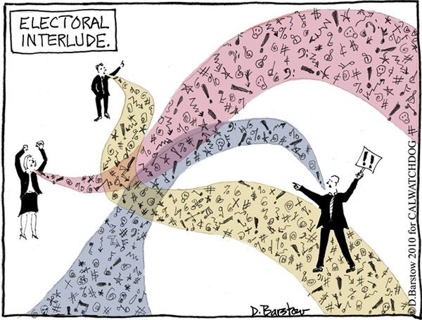 politicians saying nothing in cartoon
