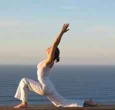 yoga warrior pose