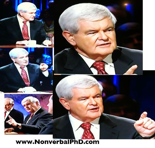 Gingrich Cluster of Pointing Gestures