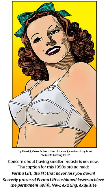 illustration of a bra ad from the 1950s
