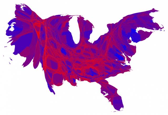 Vote Share Map, by County