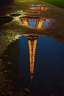 Reflection of Eiffel Tower