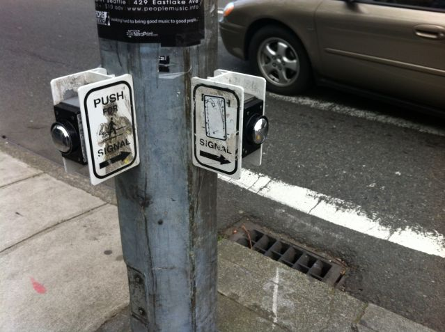 Seattle crosswalk buttons