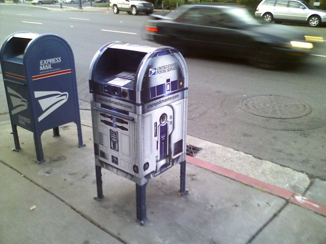R2-D2 styled mailbox