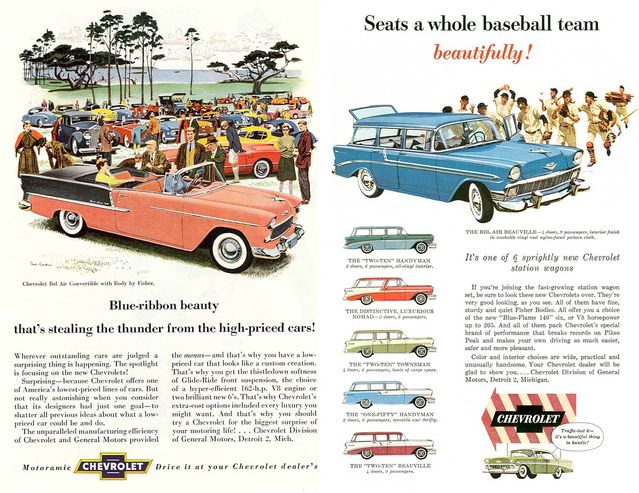 1955 & 1956 Chevrolet ads by Insomnia Cured Here Flickr Licensed Under CC BY 2.0