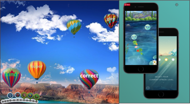 Tchiki Davis, Screenshot of Happify (left); Personal Zen (right)