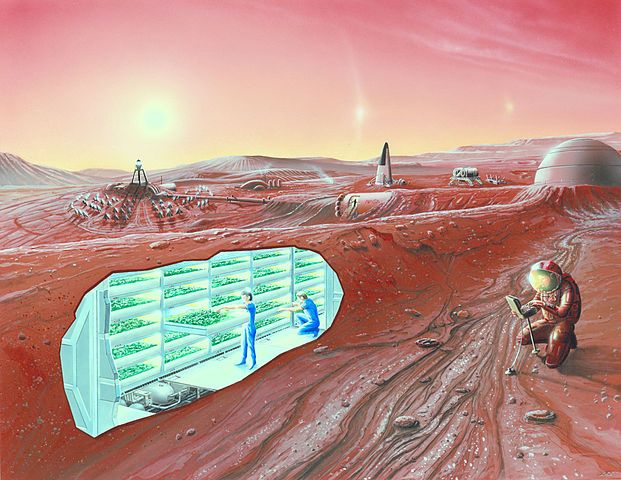 """""""Concept Mars colony"""" by NASA Ames Research Center - NASA Ames featured images. Licensed under Public Domain via Wikimedia Commons"""