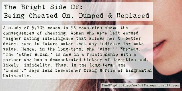 The Bright Side Of Being Cheated On Dumped Replaced Psychology
