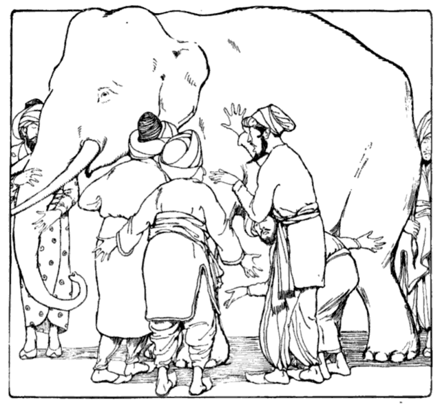 wikimedia commons/ Blind Men and elephant