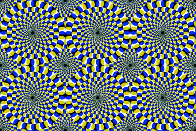 """""""Rotating Snakes"""" by Akiyoshi Kitaoka/Wikimedia"""