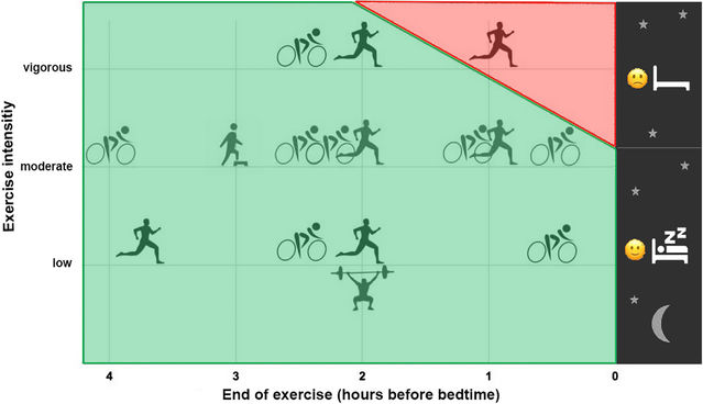 Easy-to-Moderate Exercise Before Bedtime Promotes Deep Sleep