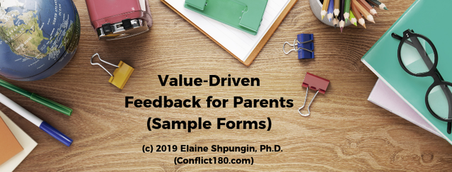 Value-Driven Feedback: Forms for School Teachers