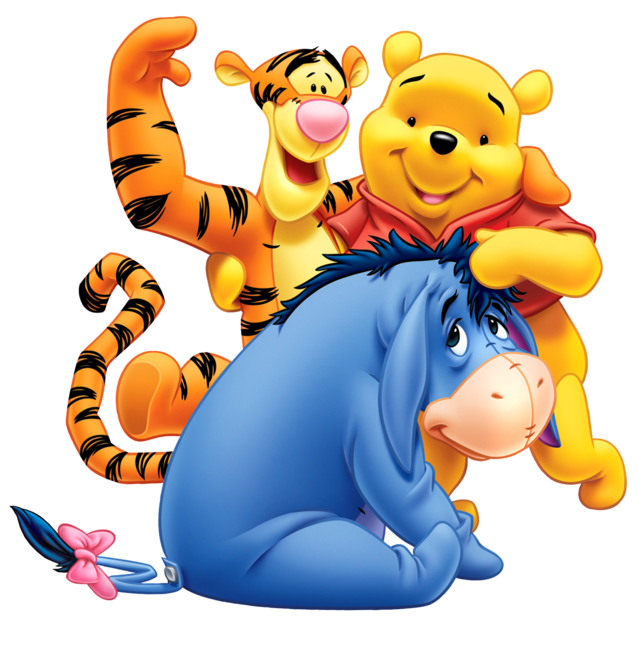 It is a graphic of Rare Pooh Bear Images