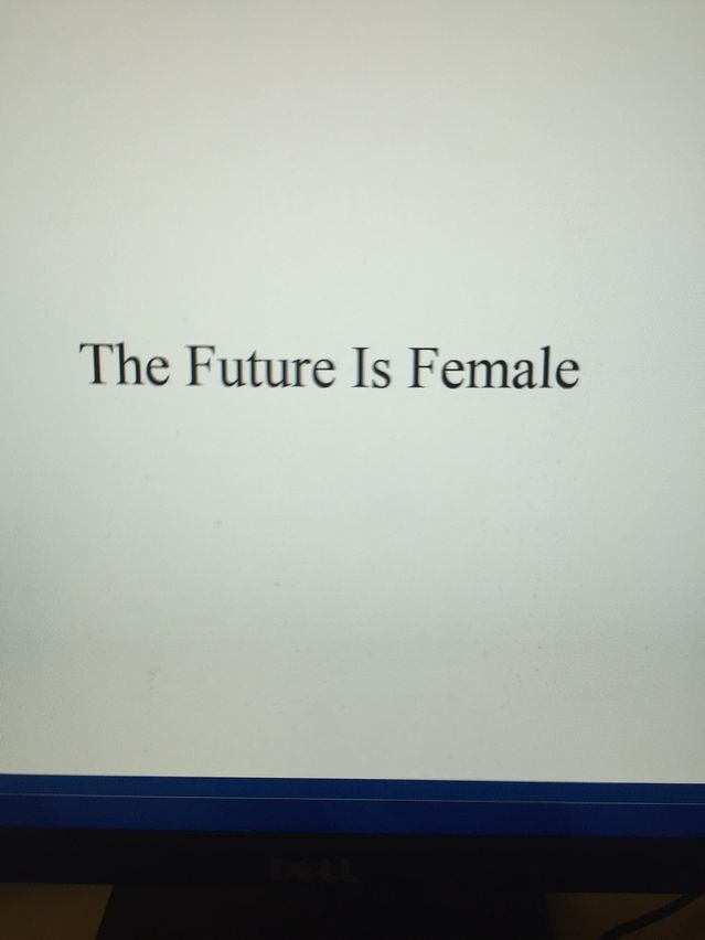 Memo to Our Sons and Grandsons: The Future Is Female