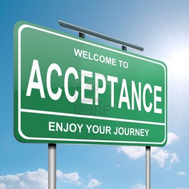 From rejection to acceptance the transformation