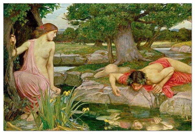 ECHO AND NARCISSUS, J.W. WATERHOUSE