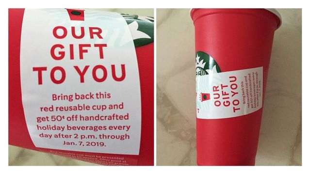 Starbucks holiday cup/ Picture by Utpal Dholakia