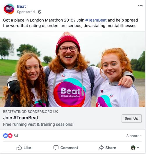 Beat, Facebook