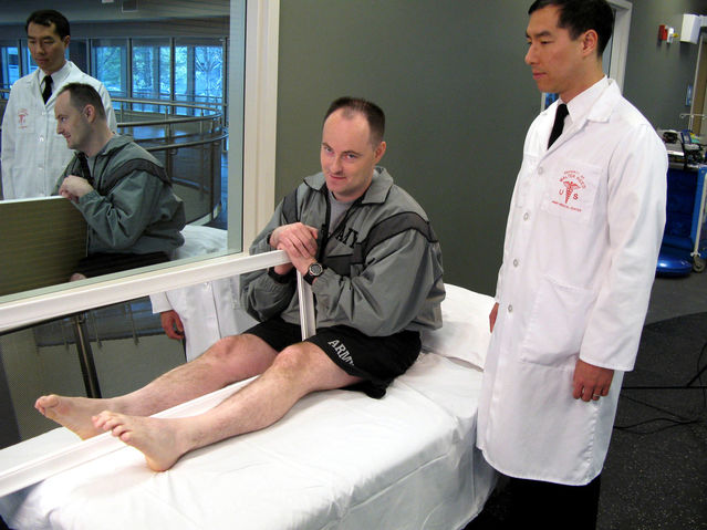 """Image result for mirror therapy for phantom limb pain"""""""