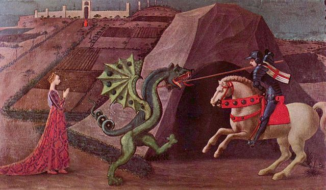 by Paolo Uccello. Licensed under Public Domain via Commons