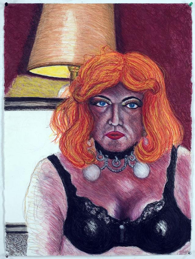 Carlotta Pizzotta drawn by Carl Davis, photograph by Ed Glendinning
