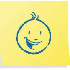Image: smiley face on a post-it