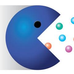 Image: Blue Pac Man illustration