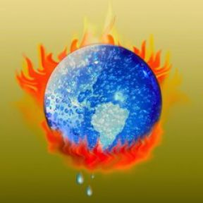 Why is the belief in global warming affected by temperature?
